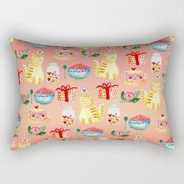 Watercolor Love doodles Rectangular Pillow