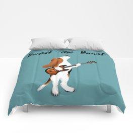 Basset the Bassist (Blue-Gray) Comforters
