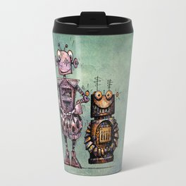Two Kid's Robots Travel Mug