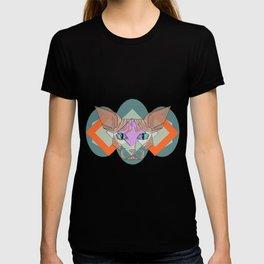 Geometric Hairless Cat T-shirt
