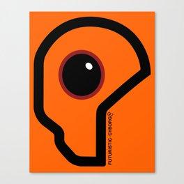 Futuristic Cyborg Logo 7 Canvas Print