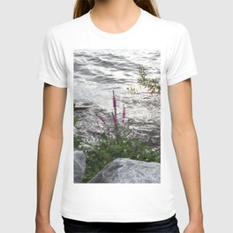 Purple Flower on the Water T-shirt