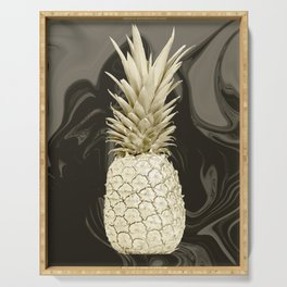 Golden Pineapple Marble Serving Tray