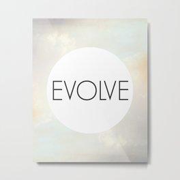 Evolve - One Word Metal Print