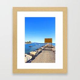 sunny jetty  Framed Art Print