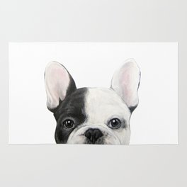 French Bulldog Dog illustration original painting print Rug