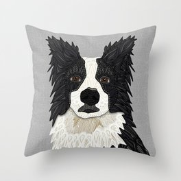 Beautiful Border Collie Throw Pillow
