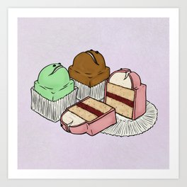F is for Frog Cake Art Print