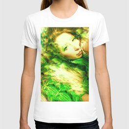 Fairy feather head dress fairy goddess green feathers ,WOOD NYMPH T-shirt