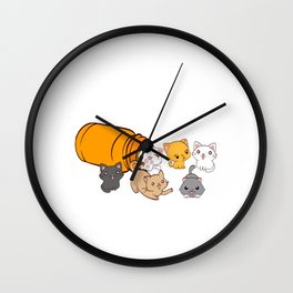 """Cat Anti-Depressants"" Depression Kills Raise Awareness T-shirt Design Help Heal Comfort Talk Chat Wall Clock"