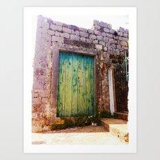 Green Door Art Print