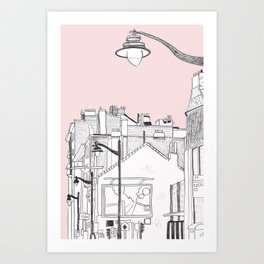 Architecture Mixes in Brussels Art Print