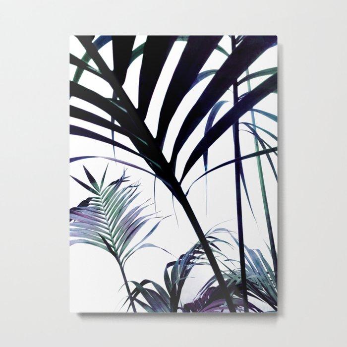 Palms Silhouettes Metal Print