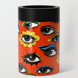 60s Eye Pattern Can Cooler