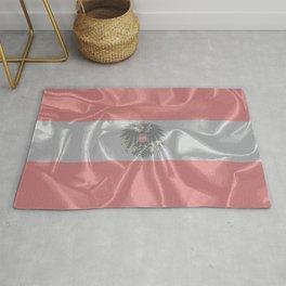 Silk Austrian Flag and Coat of Arms Rug