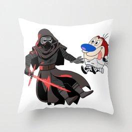 Kylo Ren and Stimpy Throw Pillow