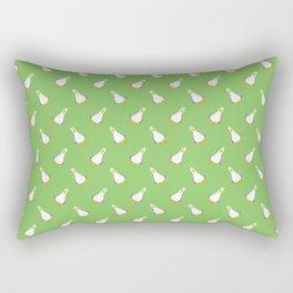 Teagull Pattern Green Rectangular Pillow