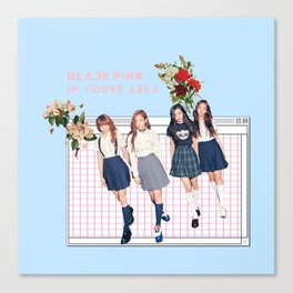 BLACK PINK IN YOUR AREA Canvas Print
