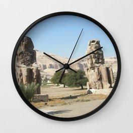 The Clossi of memnon at Luxor, Egypt, 2 Wall Clock