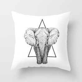 Wisdom Elephant Throw Pillow