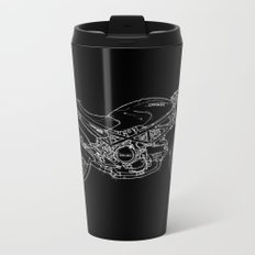 Black Ducati Monster White ink Metal Travel Mug