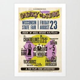 Galaxy of Stars Tour Poster Art Print