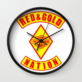 Red and Gold Nation Wall Clock