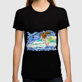 Ghibli Spirited Away Sky Illustration T-shirt