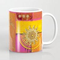 oriental Mugs featuring Oriental Sun by LebensART