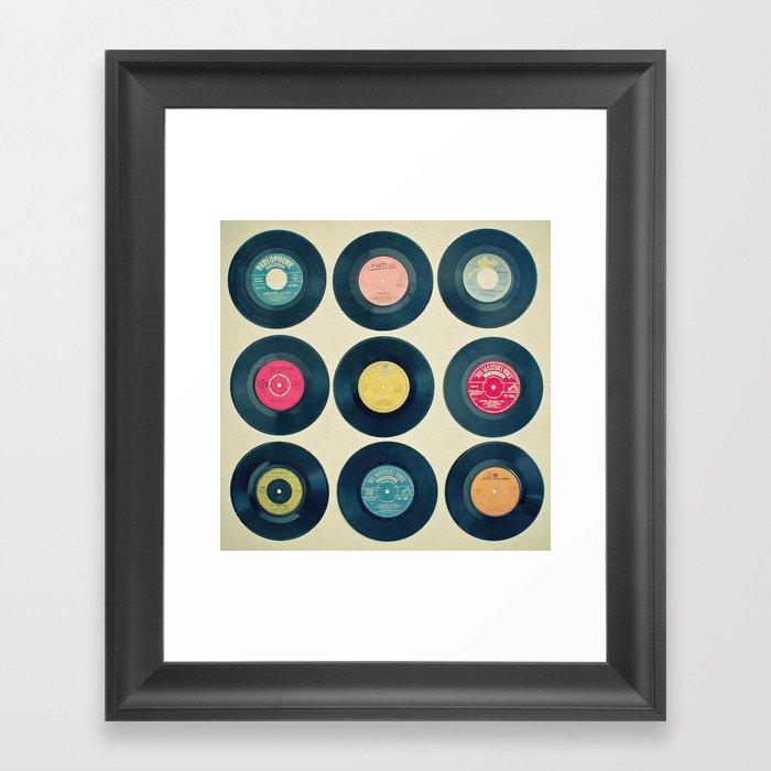 Vinyl Collection Gerahmter Kunstdruck