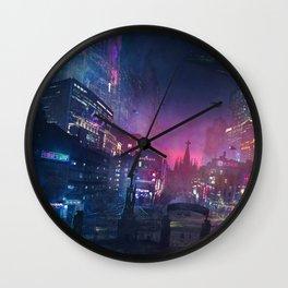 Barcelona Smoke & Neons: Sant Pau i La Sagrada Familia Wall Clock
