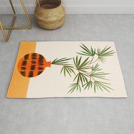 Colorful Indoor Garden / Contemporary Botanical Series Rug