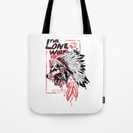 The Lone Wolf - Native American Chief Tote Bag