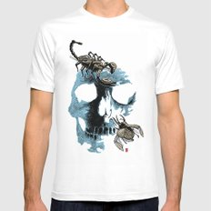 Skull three White MEDIUM Mens Fitted Tee