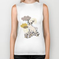 chihuahua Biker Tanks featuring Chihuahua by Camille Roy
