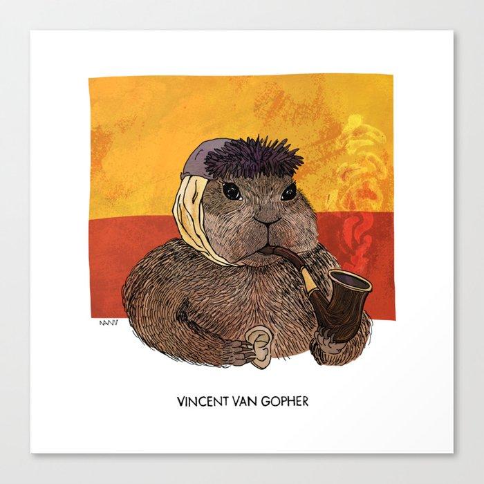 Vincent van Gopher Canvas Print