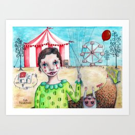 Circus time by Kylie Fowler Art Print