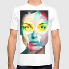 Woman MEDIUM White Mens Fitted Tee