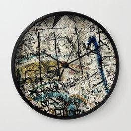 Berlin Wall Graffiti Wall Clock