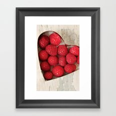 Raspberry Heart Framed Art Print