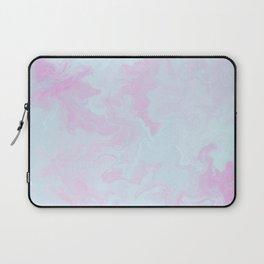 Elegant pink teal watercolor abstract marble Laptop Sleeve