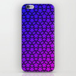 Blue and pink stars pattern iPhone Skin