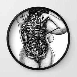 Blossom Surgery : Backbone. Wall Clock