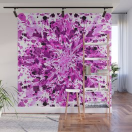 distorted squares, violet Wall Mural