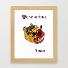 Ceremonial Jaguar Mask Casa de Artes - Antigua Guatemala Framed Art Print