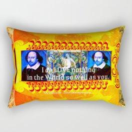 William Shakespeare Romantic LOVE Quote Rectangular Pillow