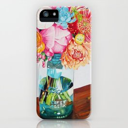 Flowers in a vase - Watercolour painting iPhone Case