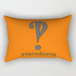 Interrobang, Serif Rectangular Pillow