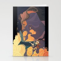 mother of dragons Stationery Cards featuring Mother of dragons by Ann Marcellino