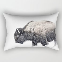 Bison in Yellowstone National Park Rectangular Pillow